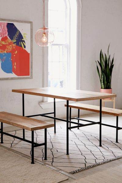 Kendall Pipe Dining Table - Black One Size at Urban Outfitters