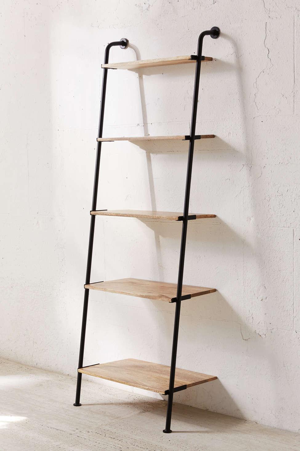 Slide View: 1: Fulton Leaning Bookshelf