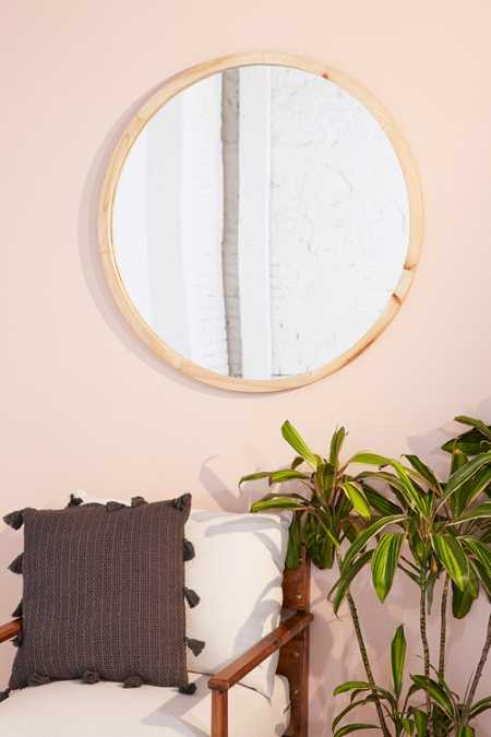 Anni Oversized Wooden Circle Mirror