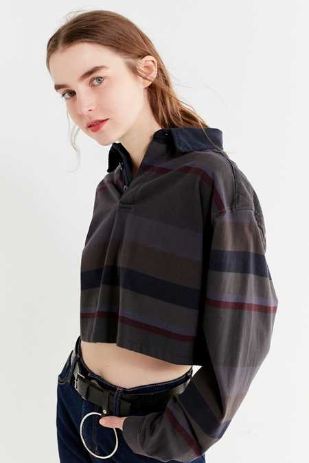 Urban Renewal Remade Assorted Cropped Rugby Shirt