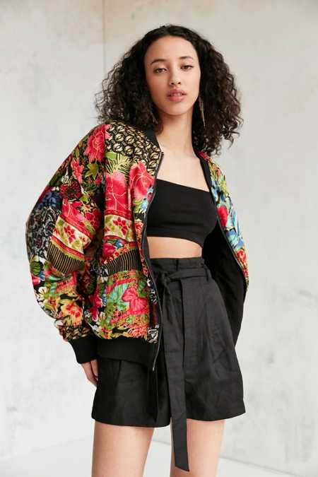 Silence + Noise Eve Patch Printed Bomber Jacket