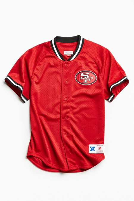 Mitchell & Ness NFL San Francisco 49ers Pro Mesh Button Front Jersey