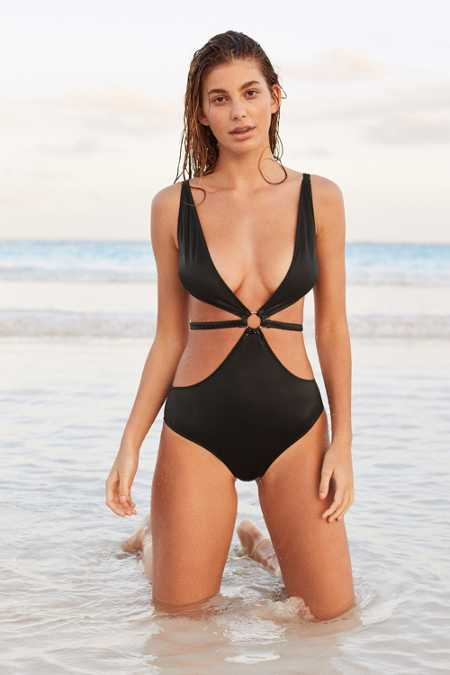Thistle & Spire Cross My Heart One-Piece Swimsuit