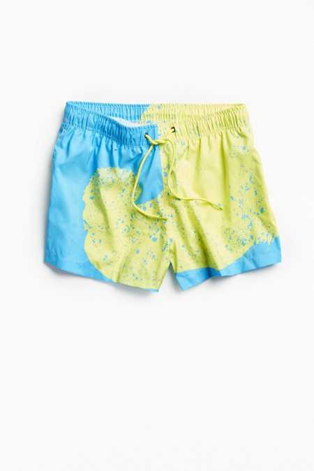 Boardies Venice Yellow Swirl Shorties Swim Trunk