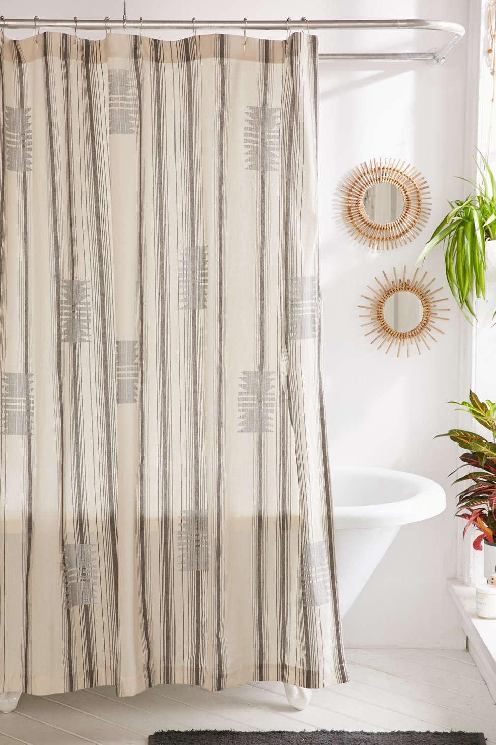 Slide View: 1: Imari Yarn-Dyed Shower Curtain
