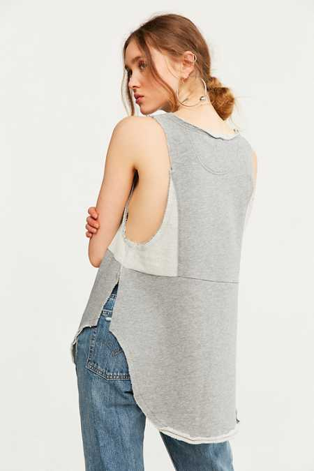 BDG Brigid Fleece Babydoll Tank Top