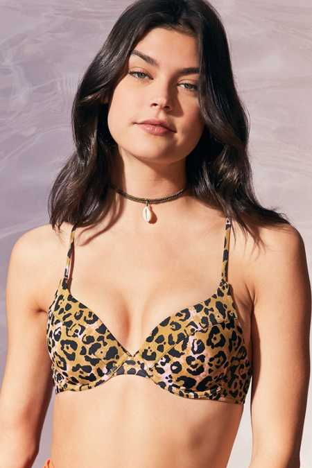 Out From Under Printed Underwire Demi Bikini Top