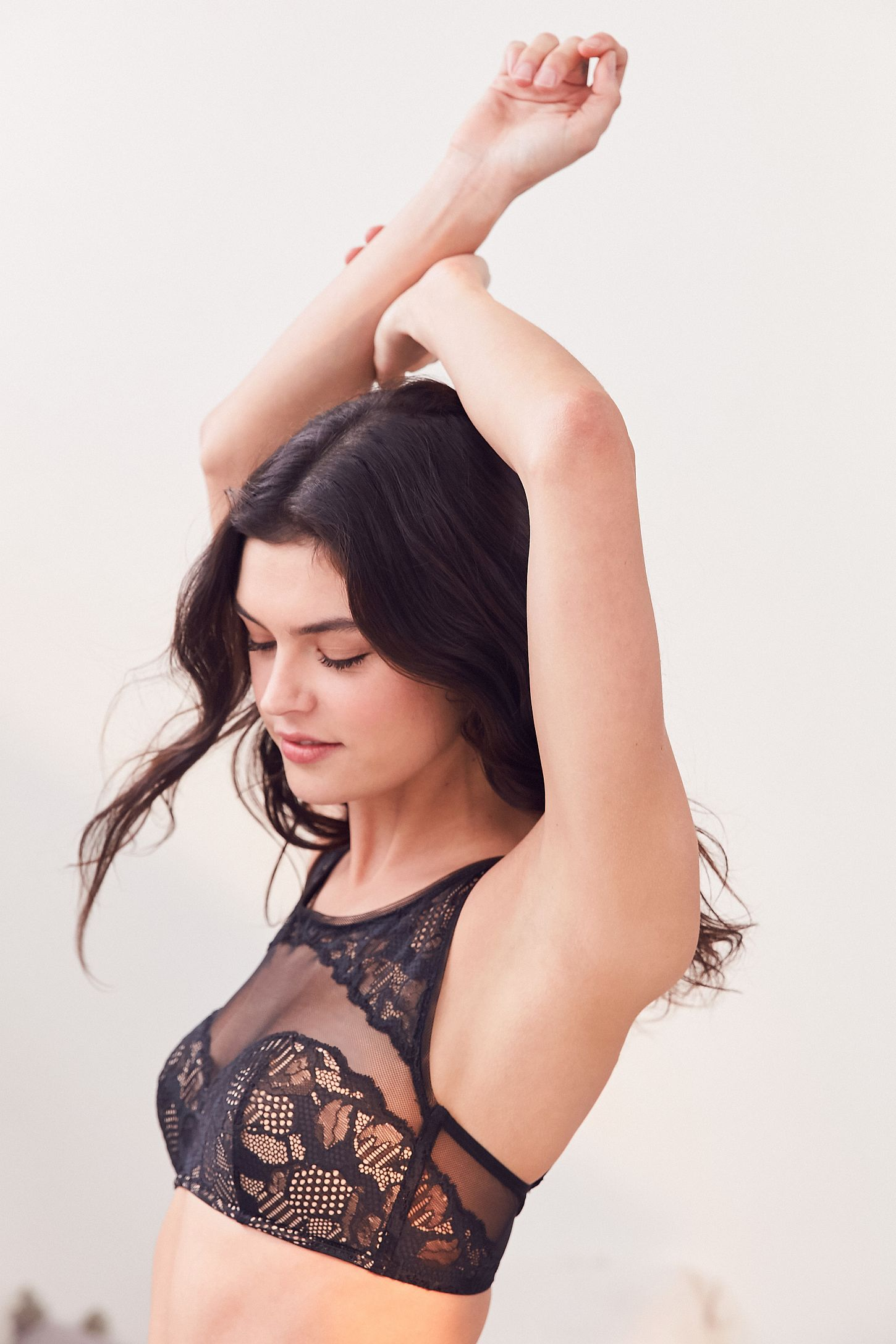 8743e5c39063e Calvin Klein Black Lace High Neck Bralette. Tap image to zoom. Hover to  zoom. Double Tap to Zoom