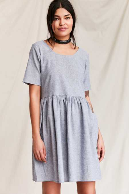 Urban Renewal Remade Yarn-Dyed Babydoll Dress