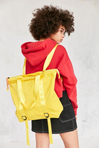 Mimi Convertible Tote Backpack - Yellow One Size at Urban Outfitters