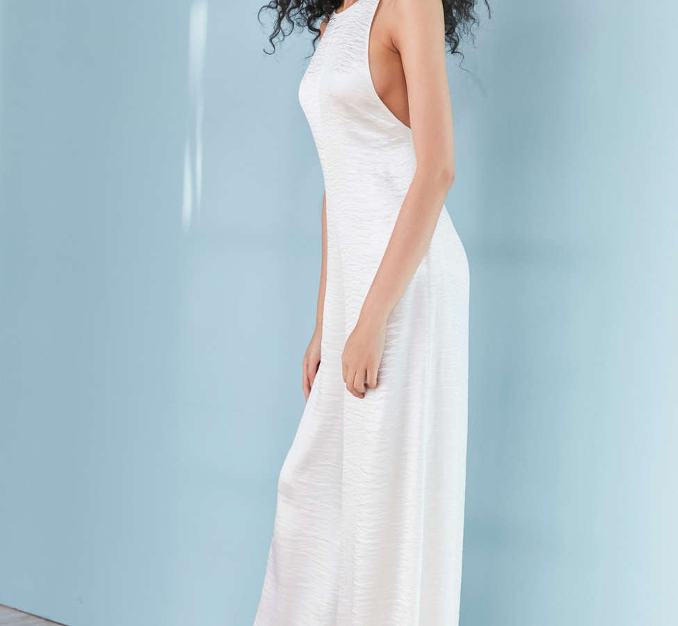 Slide View: 4: Silence + Noise Adella Wide-Leg Satin Jumpsuit