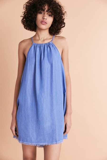 BDG Chambray Crew Neck Shift Dress