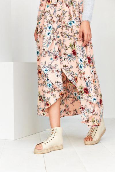 Open Toe Lace-Up Espadrille Sandal