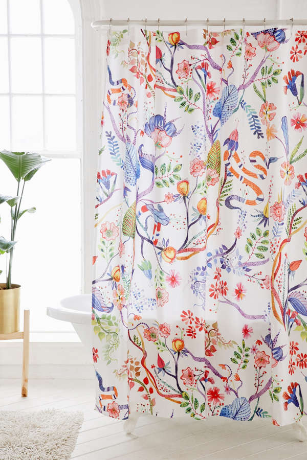 Whimsical Floral Shower Curtain Urban Outfitters