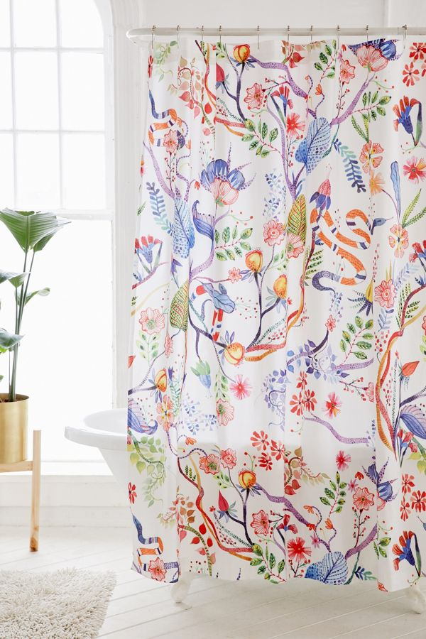 Your Urban Outfitters Gallery Whimsical Floral Shower Curtain