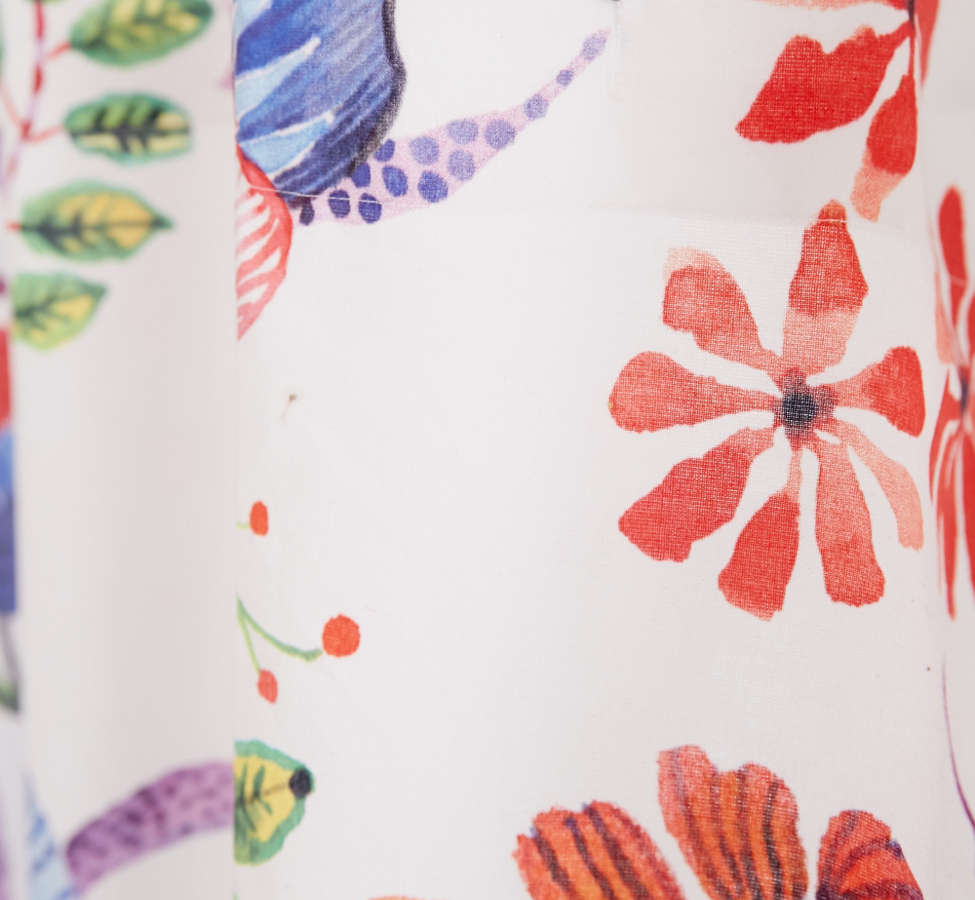Slide View: 2: Whimsical Floral Shower Curtain