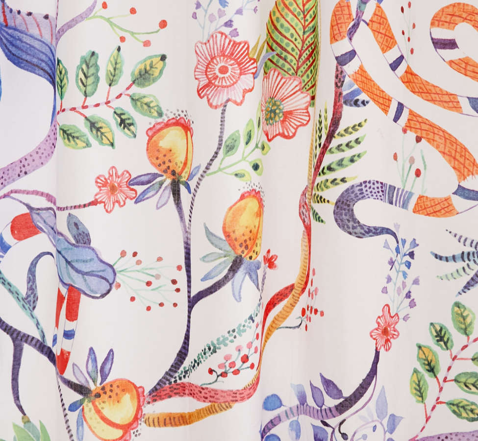 Slide View: 3: Whimsical Floral Shower Curtain