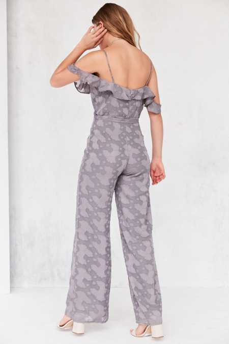Oh My Love Lathyrus Cold-Shoulder Jumpsuit