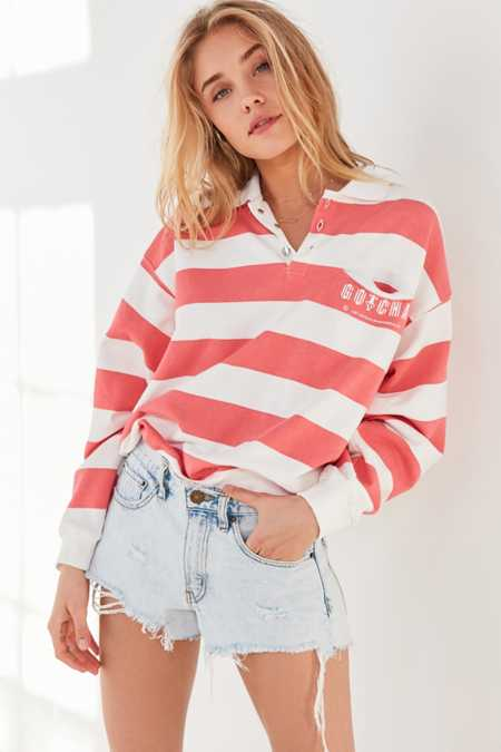 Gotcha For UO Striped Collared Sweatshirt