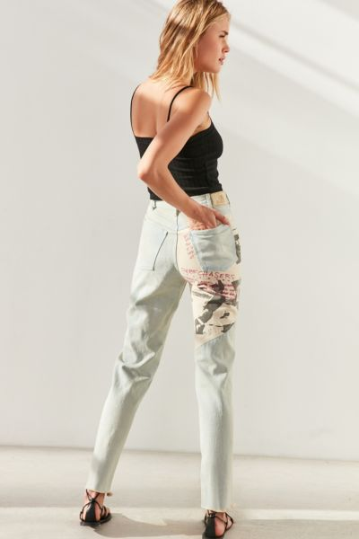 Gotcha For UO Patch Denim High-Rise Jean - Light Blue 26 W at Urban Outfitters