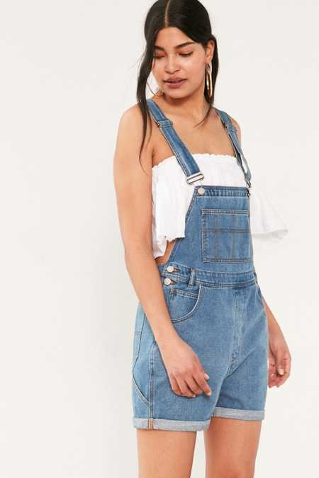 BDG Essential Denim Shortall Overall - Indigo