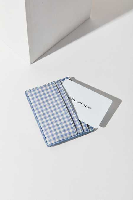 Gingham Card Case