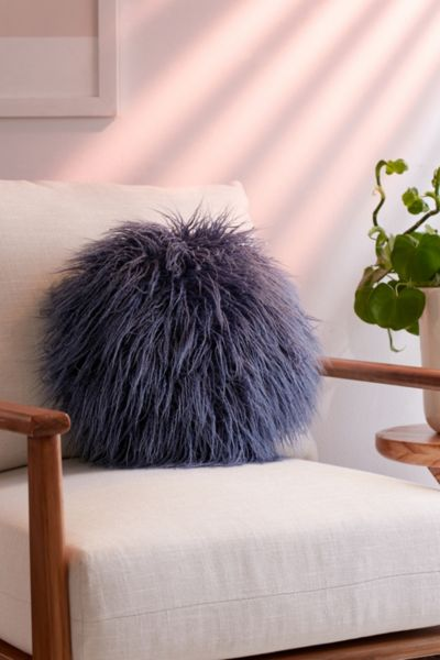 Willow Faux Fur Round Pillow