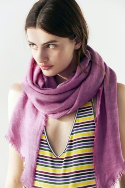 Soft Acid Wash Blanket Scarf - Blush One Size at Urban Outfitters