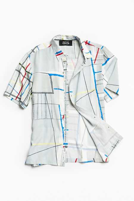 Native Youth Spectrum Grid Button-Down Shirt