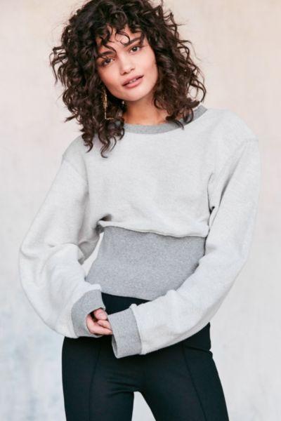 Silence + Noise Corset Pullover Sweatshirt