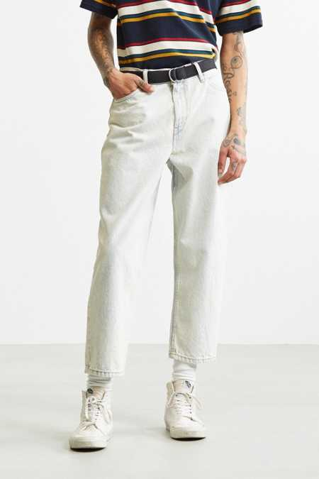 BDG Super Acid Wash Straight Cropped Jean