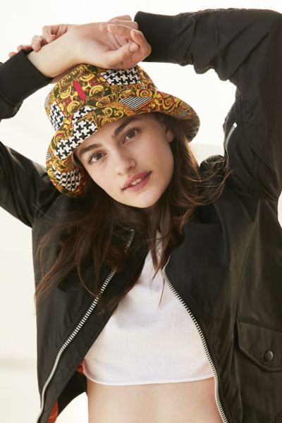 Mixed Print Bucket Hat - Assorted One Size at Urban Outfitters