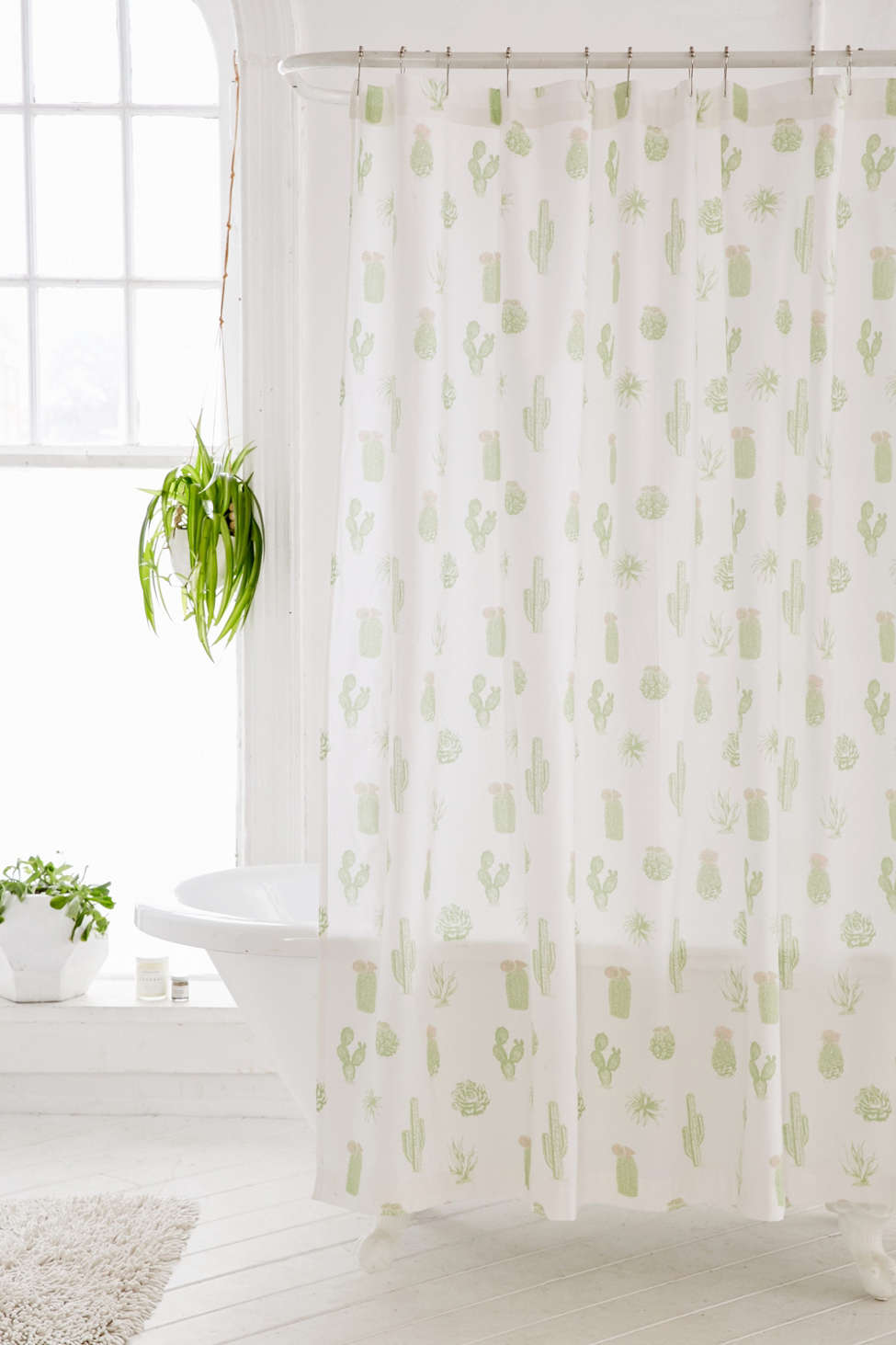 Slide View: 1: Cactus Icon Shower Curtain