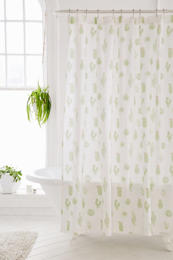 Your Urban Outfitters Gallery Cactus Icon Shower Curtain