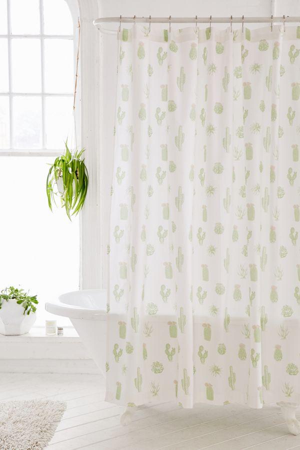 Cactus Icon Shower Curtain