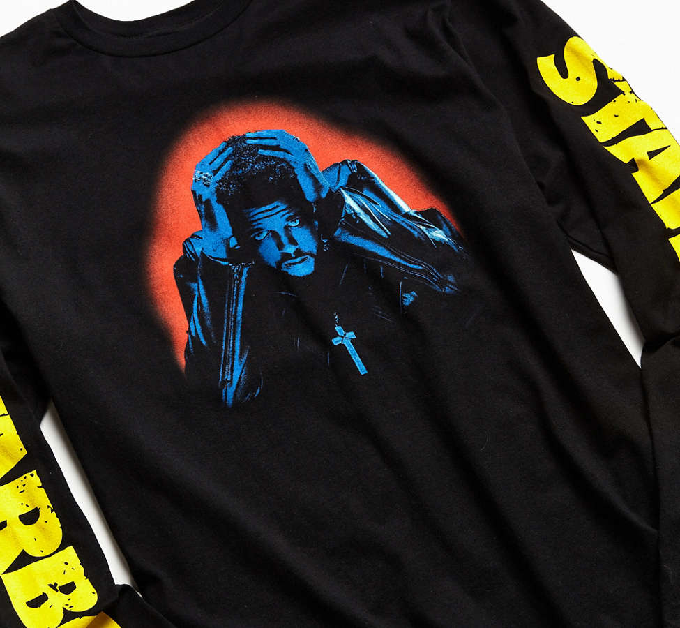 Slide View: 4: The Weeknd Starboy Photo Long Sleeve Tee