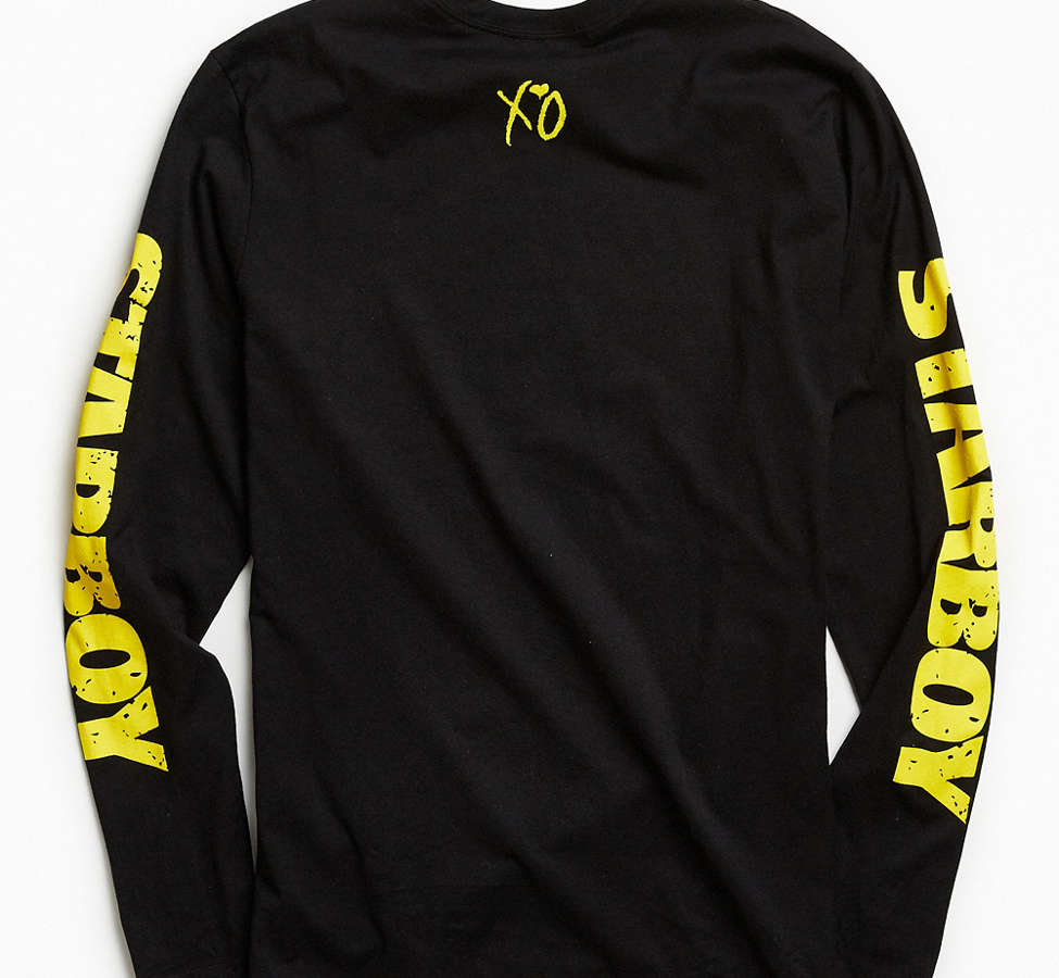 Slide View: 5: The Weeknd Starboy Photo Long Sleeve Tee