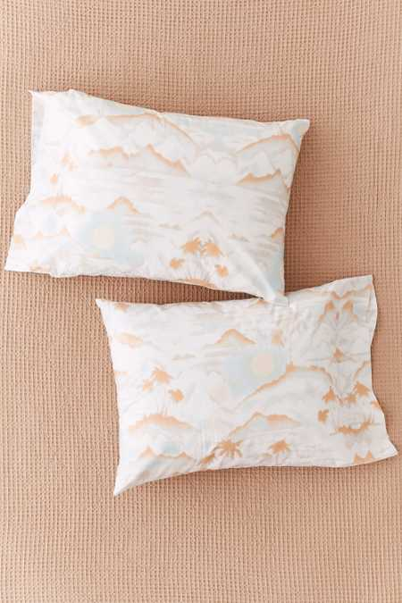 Sunset Palms Pillowcase Set