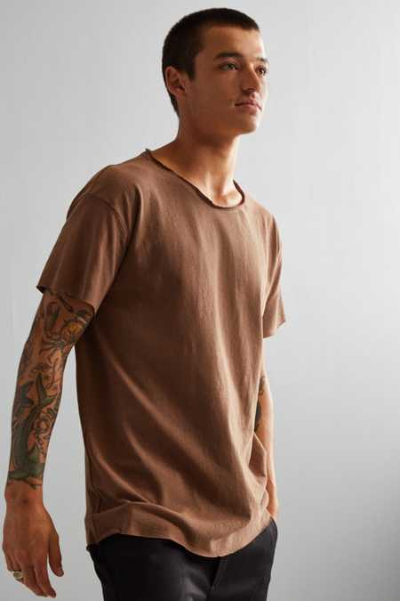 Franklin Wide Neck Raw Cut Tee