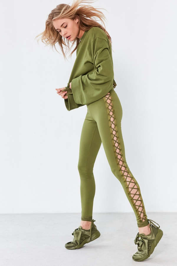 a6e3bfa9fc6f Puma Fenty by Rihanna Satin Lace-Up Legging   Urban Outfitters