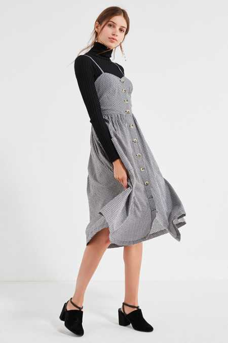 Cooperative Emilia Gingham Button-Down Midi Dress