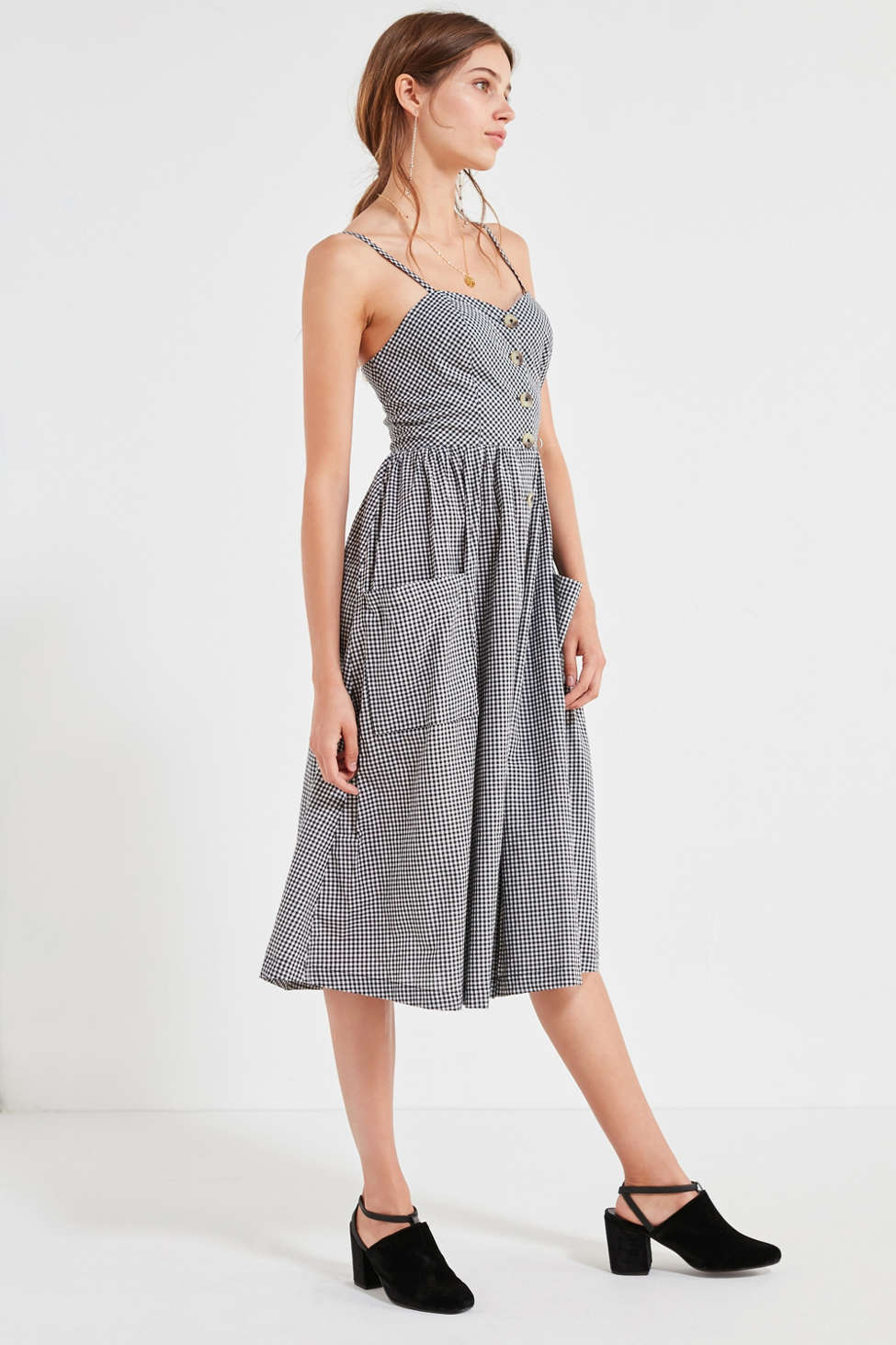 Cooperative Emilia Gingham Button Down Midi Dress Urban
