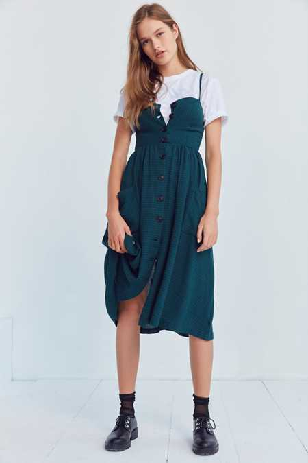 Cooperative Emilia A-Line Button-Down Midi Dress