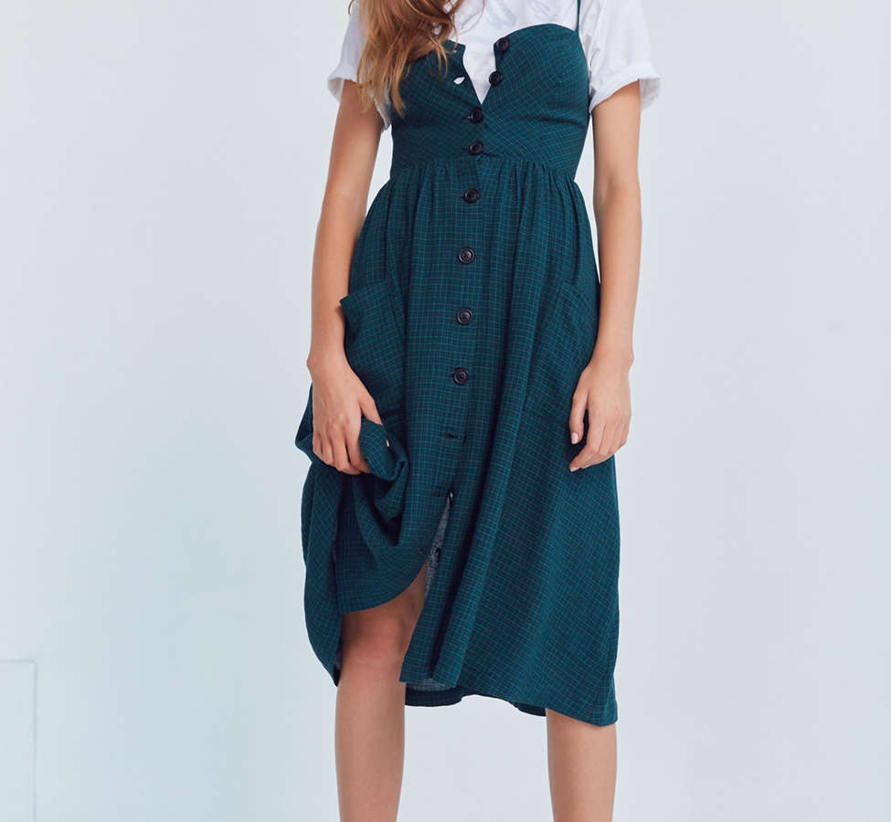 Slide View: 1: Cooperative Emilia A-Line Button-Down Midi Dress