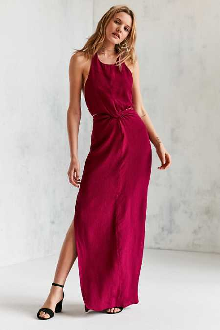 WINONA Louise Knot-Front Maxi Dress