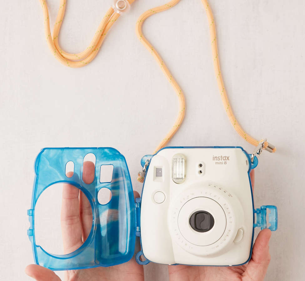Slide View: 3: Fujifilm Instax Mini Marbled Waters Hard-Shell Camera Case
