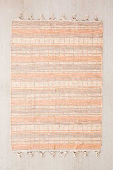 Anza Knotted Trim Dye-Stripe Rug