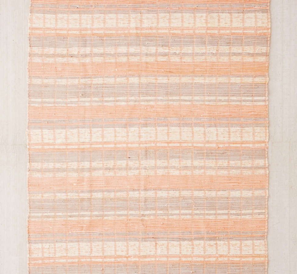 Slide View: 1: Anza Knotted Trim Dye-Stripe Rug