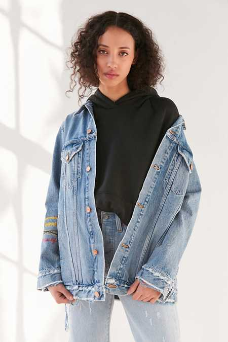 AGOLDE X UO Devin Distressed Denim Jacket