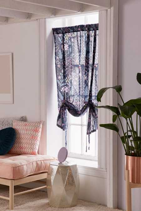 Lillian Floral Draped Shade Curtain